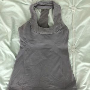 Workout top, lightly worn w/ built in bra